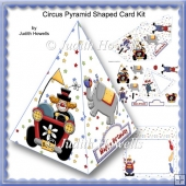 Circus Pyramid Shaped Card Kit