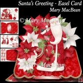 Santa's Greeting - Easel Card
