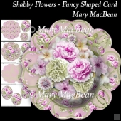 Shabby Flowers - Fancy Shaped Card