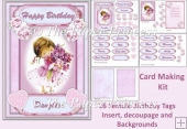 Birthday Female 16 Female tags, Insert, Decoupage, Backgrounds