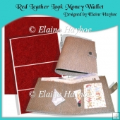 Red Leather Look Money/Gift Voucher Wallet