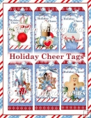 Holiday Cheer Christmas Tags for Embellishments/Toppers