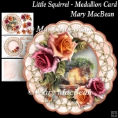 Little Squirrel - Medallion Card