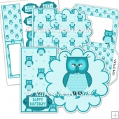 Owl Flower Shaped Card