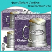 Beer Tankard Birthday Cardfront with Decoupage