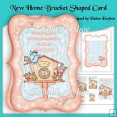 New Home Bracket Shaped Card