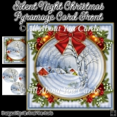 Silent Night Christmas Pyramage Card Front