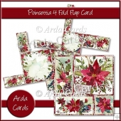 Poinsettia 4 Fold Flap Card