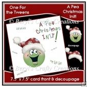 A PEA CHRISTMAS INIT! Large card Front