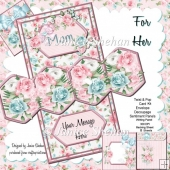 For Her Mother's Day Birthday 3D Twist and Pop Card Kit
