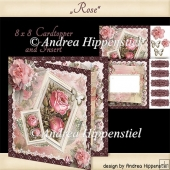 Card Topper with Insert Rose