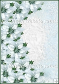 Poinsettia and Snowflakes Christmas Backing Background Paper