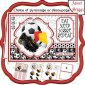 FOOTBALL RED A5 Decoupage or Pyramage & Insert Card Kit