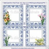 Delph Tulip Cluster Frames Set One - Ten A4 Sheets