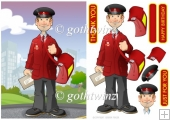 Postman Dude with Matching Insert