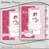 Birthday Princess Decoupage Card Front