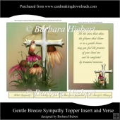 Gentle Vreeze Sympathy Topper Insert and Verse