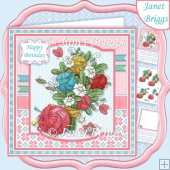 KNITTING BOUQUET 7.5 Decoupage & Insert Kit