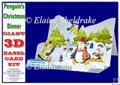 Penguin's Christmas Dinner - Pop Up Easel Card Kit