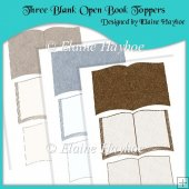Three Blank Open Book Toppers
