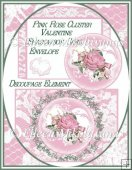 Cottage Chic Pink Rose Cluster Valentine Shadowbox Card