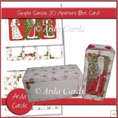 Simple Santa 3D Aperture Box Card