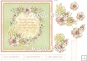Pastel flowers with verse