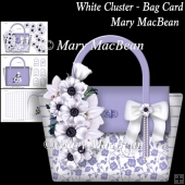 White Cluster - Bag Card