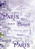 Lavender Paris Chic Typography Backing Background Paper