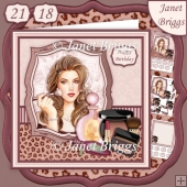 MAKE UP ARTIST 8x8 Decoupage & Insert Kit