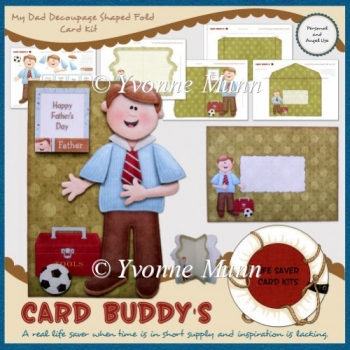 My Dad Decoupage Shaped Fold Card Kit