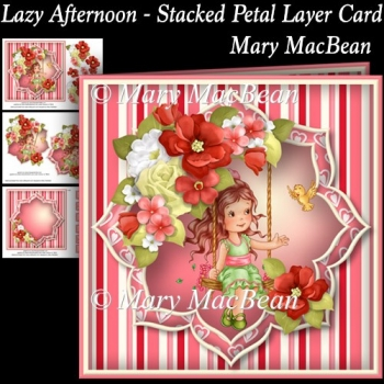 Lazy Afternoon - Stacked Petal Layer Card