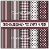 Chocolate Brown And White Papers