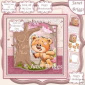 TEDDY TREE CARVING 7.5 All Occasions Decoupage & Insert Kit