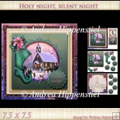 7.5 x 7.5 Card Topper Holy Night