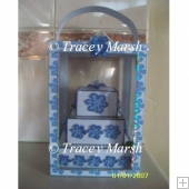 3D 3 Tier Square Cake & Display Box Template - CU OK