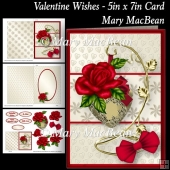 Valentine Wishes - 5in x 7in Card