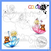 Baby Shower and sentiment Digi stamps