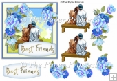 "Best Friend Card Front 5"" x 5"""