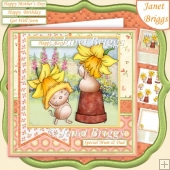 DAFFODIL FUN Easter Mother's Day Birthday etc 7.5 Decoupage Kit