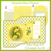 Yellow Poppy DB Z Foldback Card Kit