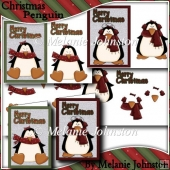Christmas Penguins - 2 card fronts