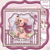 HAVE A PIGGIN' GREAT DAY 8x8 Decoupage & Insert Kit