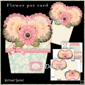 Flower Pot Stand Alone Card Kit 4