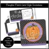 Pumpkin Patch Card Style Invitations