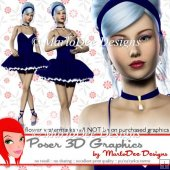 Pretty Ballerina Girl Poser Graphics Set 4