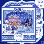 WINTER WONDERLAND 7.8 Quick Layer Card or Decoupage Mini Kit