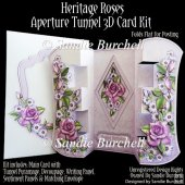 Heritage Roses Aperture Tunnel 3D Card Kit
