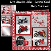 Live, Breathe, Bikes - Layered Card