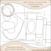 Baby Strapy Sandal & Box Template Commercial Use